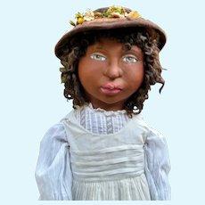 "Sweet 31"" Black sculpted doll by Jude Kapron OOAK"