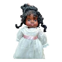 Cloth sculpted black doll by Jude Kapron OOAK