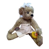 Sweet mohair Teddy by Sue Coe
