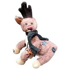 Adorable jointed Reindeer