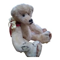 Doll size humpbacked Teddy bear