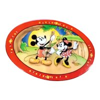 Vintage Micky & Minnie mouse tin