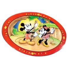Vintage Micky & Minnie mouse tin