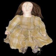 Very primitive folk art artist doll