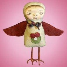 Primitive Folk art Bird/ One of a kind