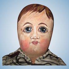 Folk art hand painted OOAK boy doll