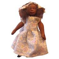 Black sculpted primitive miniature doll OOAK