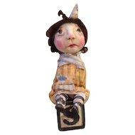 Primitive OOAK adorable doll
