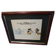 Charming vintage Mickey Mouse cel