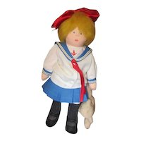 Vintage adorable Sailor girl cloth artist doll