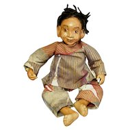 Charismatic Black boy doll with dreads OOAK