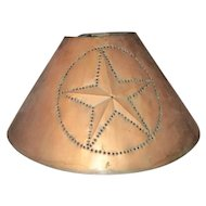Amazing vintage pierced Copper lampshade