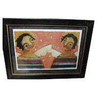 Charming Black sisters Angel print by  Jane Desrosier