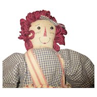 Vintage Primitive Raggedy Ann by Boyds