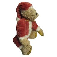 Vintage Santa bear so cute