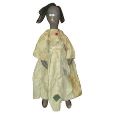 Captivating primitive folk art Black doll