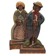 Great artist wooden Black couple