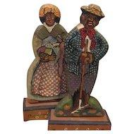 Great artist wooden Black couple