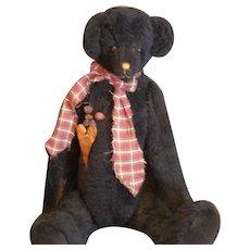 Primitive artist Teddy Bear