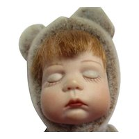 Darling bisque head doll teddy