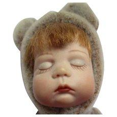 Darling bisque head doll teddy