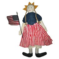 Great patriotic cloth doll artist made