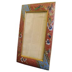 19th C. Champleve And Gilt Bronze Picture Frame