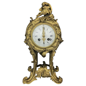 Magnificent 19th C. French Gilt Bronze Clock
