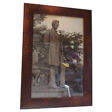 Abraham Lincoln carbon print frame is quarter sawn oak