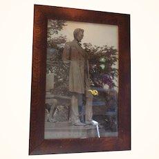 Abraham Lincoln carbon print frame is quarter sawn oak