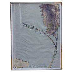 Harold Stevenson artwork mixed media on paper