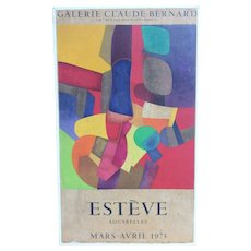 Maurice Esteve original lithograph gallery poster 1973