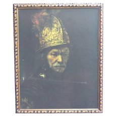 Giclee on canvas of The Man With The Golden Helmet by Rembrandt Reproduction