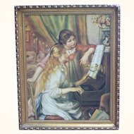 Giclee on canvas of the famous two girls playing the piano by Rembrandt Reproduction
