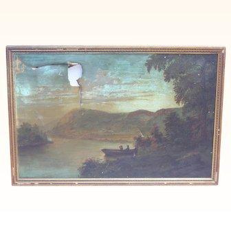 1800's Oil landscape painting