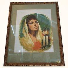 Sandu Liberman Female Shabbat with Candles
