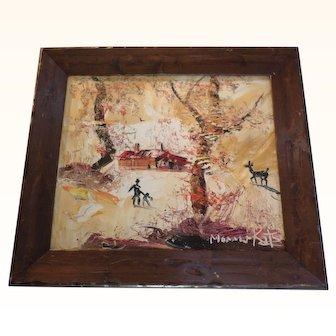 Morris Katz landscape Painting 1982