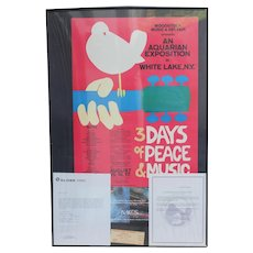 Genuine Woodstock posters with ticket