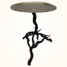 Central Asian Blackbuck stag Horned side table