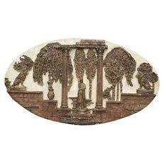 Harold Studio's Plaster relief italian mid century