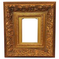 Solid Hand carved wood gold vintage frame