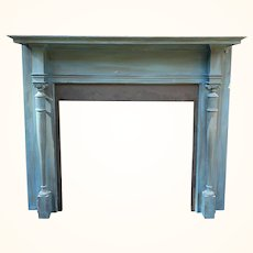Beautiful solid wood mantle with cleated support fireplace