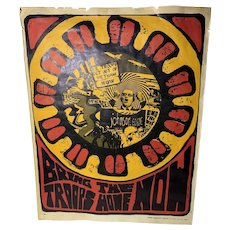 "Nancy Coner ""Bring the troops now"" poster original Circa 1967"