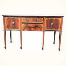 Sheraton Colonial sideboard/server, serpentine with marquetry inlay