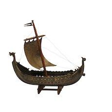 20th Century model of a viking ship
