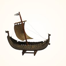 20th Century model of a viking ship