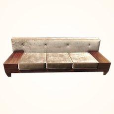 Mid-Century Modern solid wood designer platform loft style couch