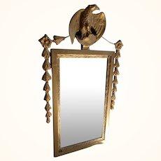 Antique wartime eagle mirror heavy Gesso work