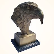 Solid brass American bald eagle