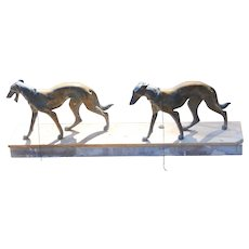 Borzoi Russian Hounds on stone veneer slab